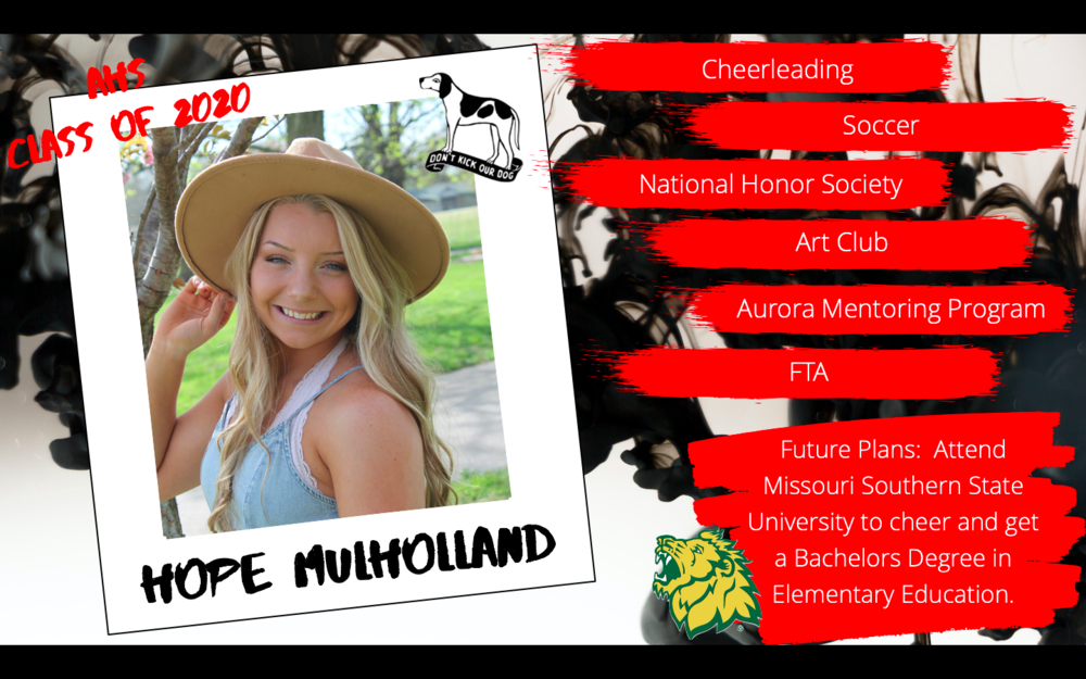Congratulations Hope Mulholland