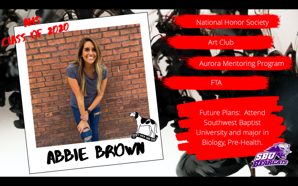 Congratulations Abbie Brown