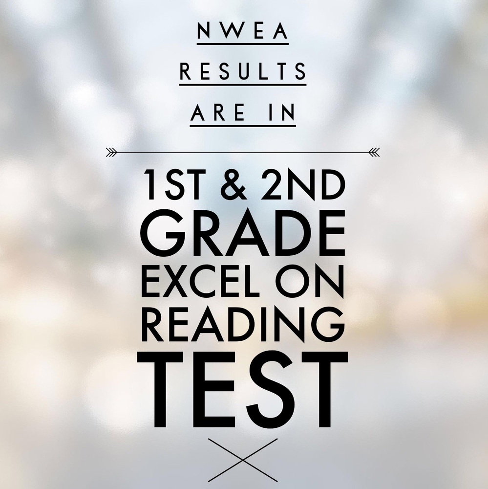 1st & 2nd Grade Score Above National Norm on NWEA Reading Test