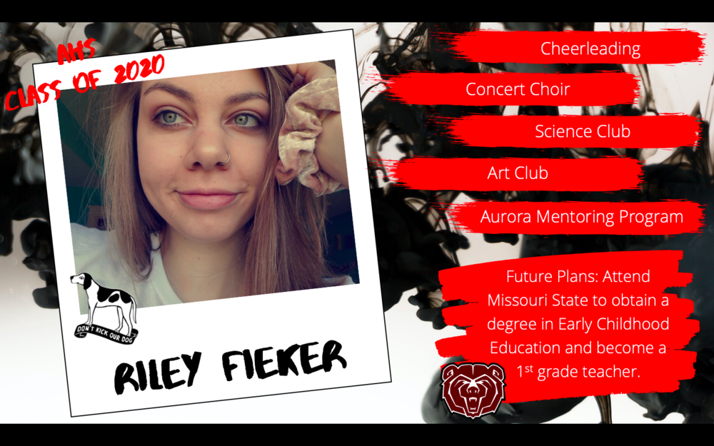 Congratulations Riley Fieker