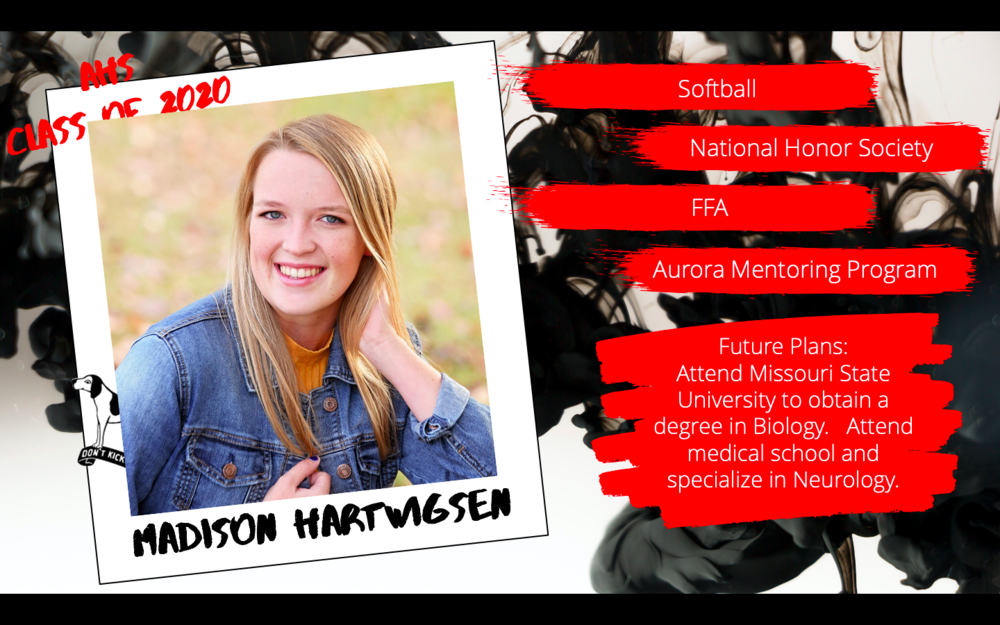 Congratulations Madison Hartwigsten