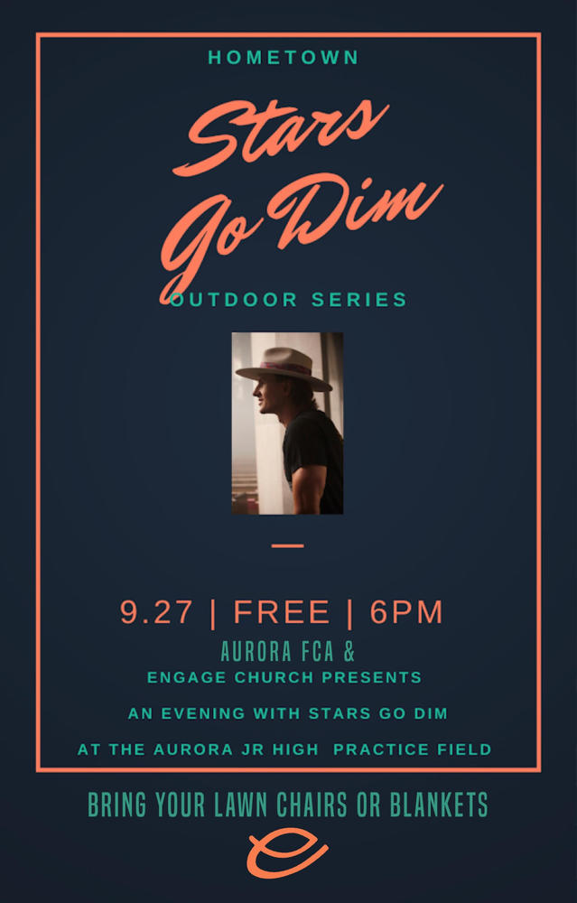 Stars Go Dim  Outdoor Concert Series-September 27, 2020
