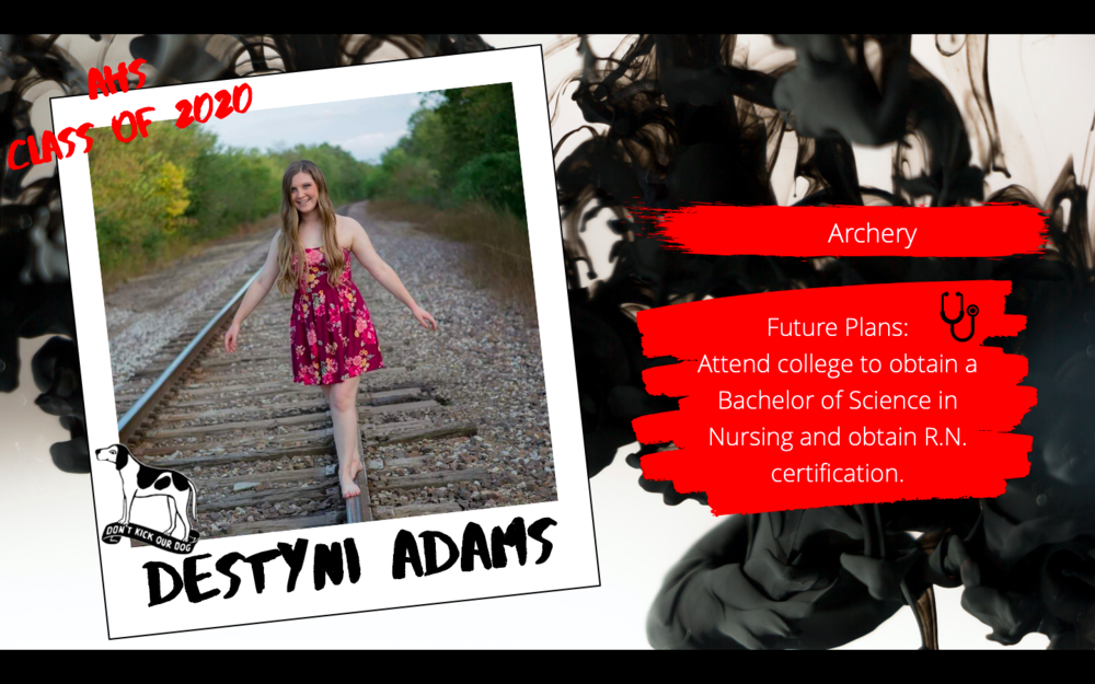 Congratulations Destyni Adams