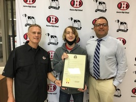 Aurora High School Student Recognized by Missouri Senate