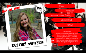 Congratulations Destiny Whitson