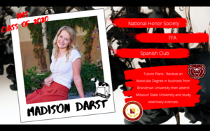 Congratulations Madison Darst