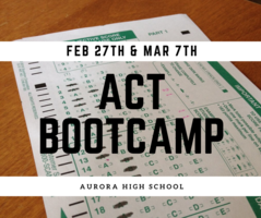 AHS to host ACT Bootcamp 2 Day Workshop
