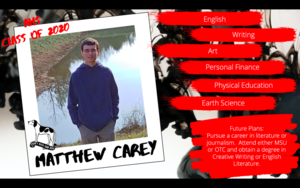 Congratulations Matthew Carey