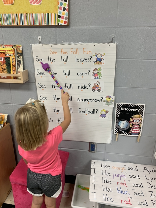 Reading from the shared reading chart