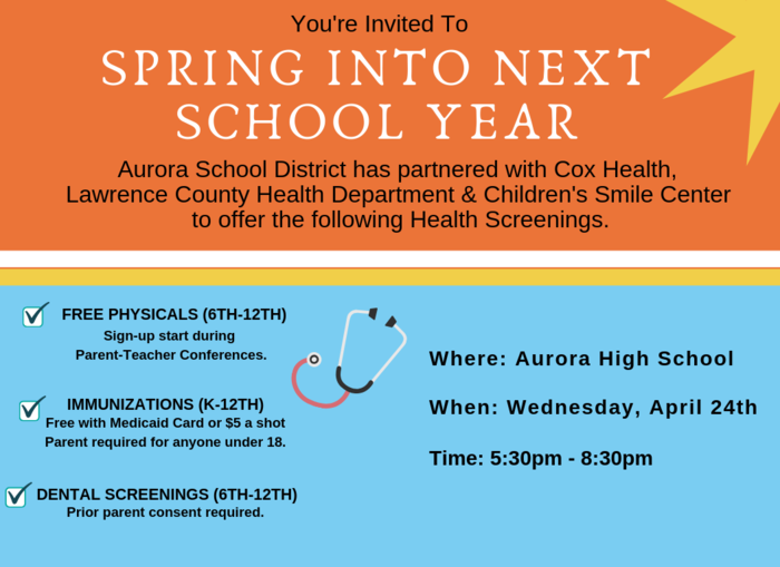 Physicals/Immunizations/Dental Screening