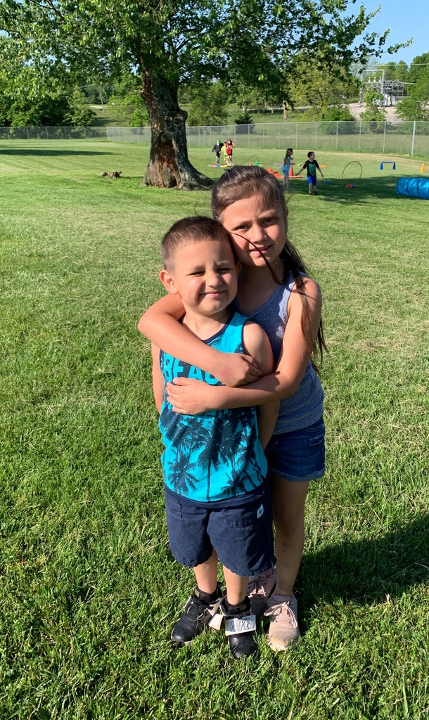 Brother and sister connect during Field Day!