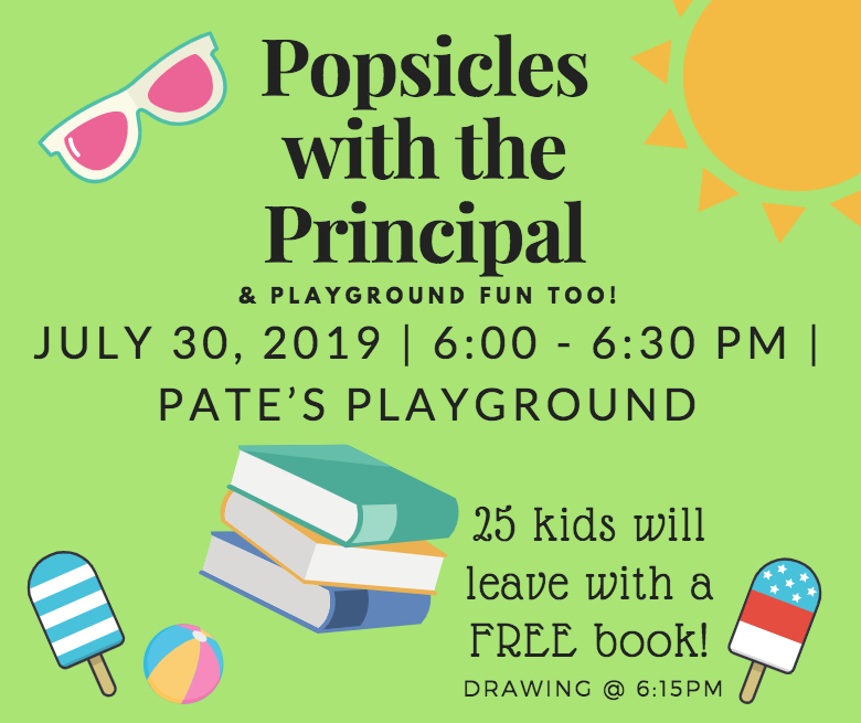 Popsicles with the principal