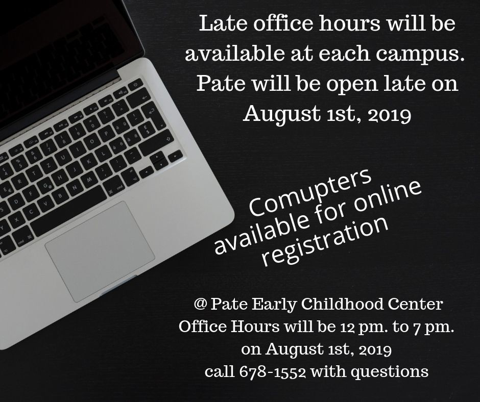 Late office hours at Pate Early Childhood Center
