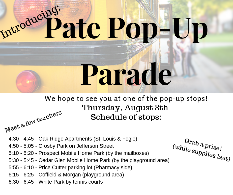 Pate Pop-Up Parade