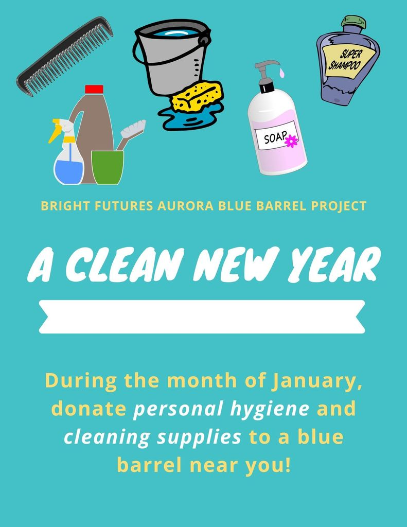 January Blue Barrel