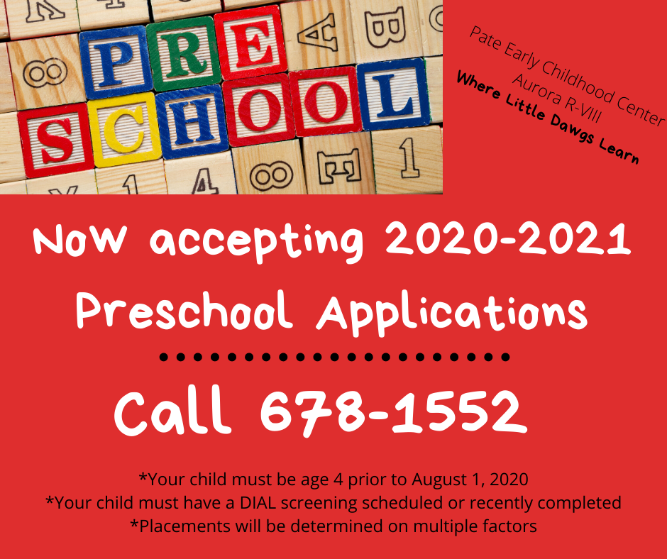 Preschool Announcement